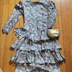 80's vintage silk dress